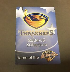 RARE-2004-05-NHL-Hockey-Pocket-Schedule-Atlanta-Trashers-04-05-Card-Lockout