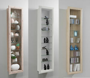 Lovely Image Is Loading Bora Wall Mounted Glass Amp Wood Display Cabinet