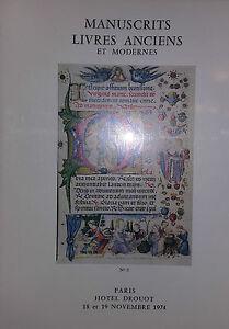 1974-Catalogue-Illustrato-Vendita-Drouot-Autografe-Libri-Antichi-E-Moderno