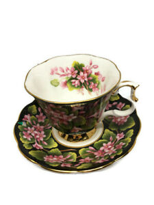 Royal-Albert-Provincial-Flowers-Mayflower-Cup-and-Saucer-Flawless