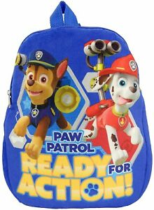 Paw-Patrol-Pluesch-Ready-for-Action-Kinder-Rucksack-Kindergarten-Tasche-Sport-Neu