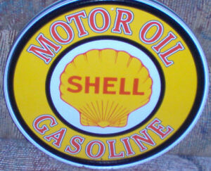 reproductions made to order Shell motor oil tin metal sign