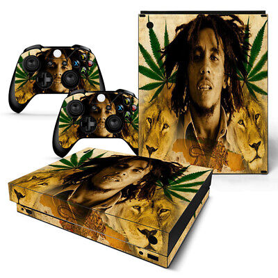Bob Marley Motiv Waterproof Shock-Resistant And Antimagnetic Amicable Xbox One X Skin Design Foils Aufkleber Schutzfolie Set