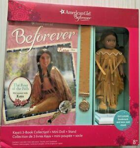 American Girl Kaya Mini Doll And Three Books New