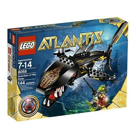LEGO Atlantis Guardian of of of the Deep 8058 - 144 pcs, Ages 7-14 - Hardly Used b546a9