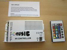 12V/24V DC 60W IR Music Controller + Remote Control for RGB LED Strip Lights