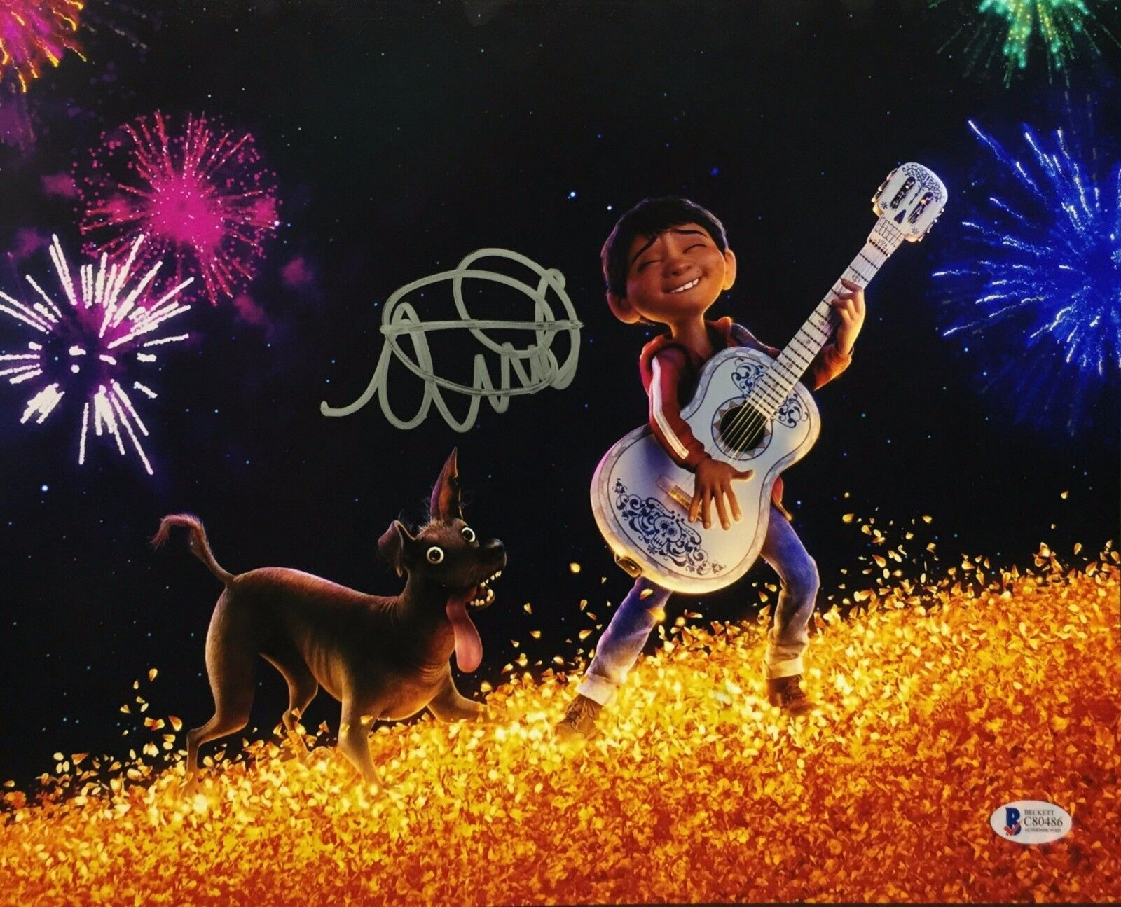 Anthony Gonzalez Signed Coco 11x14 Photo *Miguel Beckett BAS C80486