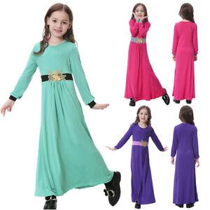 Pants Dresses Outfits Muslim Girls Long Sleeve Islamic Abaya Robe Kaftan Dress