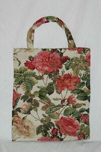 Blumen-Einkaufsbeutel-Rose-Gobelin-Tapestry-Shopper-Einkaufstasche