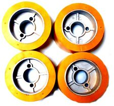 Accura Comatic Ro 10 Power Stock Feeder Roller Wheels 50 X 100mm Set Of 4