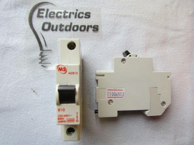 M2 10 Amp Type B Circuit Breaker MCB B10 M2B10 New