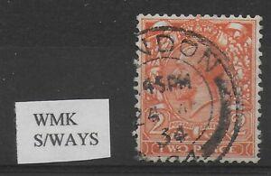 SG-421b-2d-Orange-Wmk-S-ways-Fine-CDS-Used-Cat-100-Ref-9-91