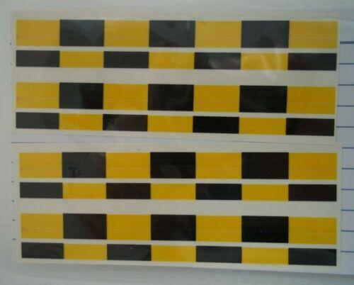 Waterslide decals CODE 3 Black and Yellow VOSA Battenburg 1:43