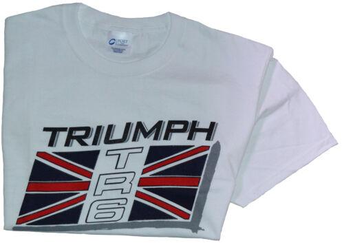 Triumph TR6 flag T-Shirt 100/% cotton Med XXL