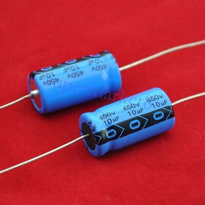 Ruby Gold 10uF 450V Axial Capacitor