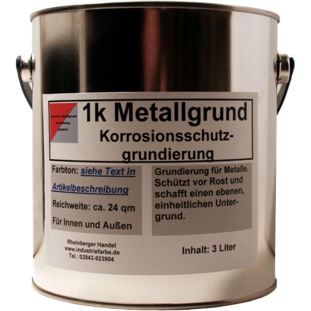 Metallgrundierung, Rostschutz Grundierung, Grundanstrich, grün, 3 Liter