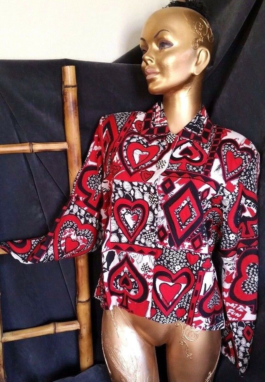 Sandy Estrellakman Patchwork Blazer  Chaqueta jugando a las Cochetas Diseño Negro Rojo blancoo Talla S  venta de ofertas