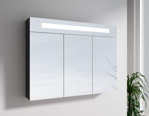 LED Spiegelschrank Badspiegel 60 cm 90 cm schwarz weiß Touch