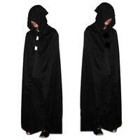 Halloween Costume Devil Long Tippet Cape Theater Prop Death Hoody Cloak Black