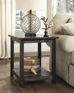 Ashley Furniture Rectangular End Table Mestler Rustic Brown T580 3
