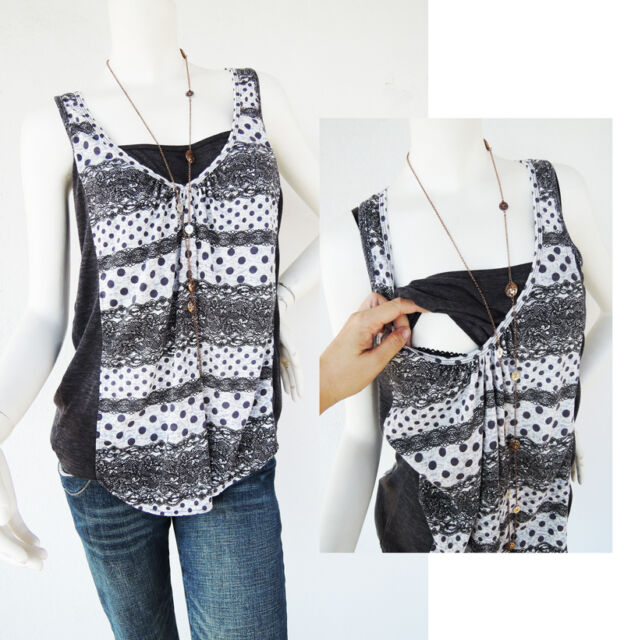 LACE Print Maternity Clothing Breastfeeding Top Nursing Tops Pregnancy Clothing