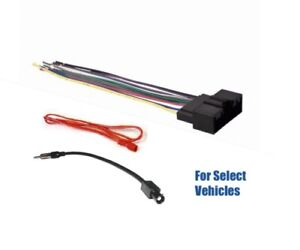 Details about Car Stereo Radio Wire Harness Plugs + Antenna Adapter on