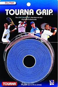 Tourna Grip Overgrip Tennis Grip Pack De 10 Poignées, Bleu-afficher Le Titre D'origine
