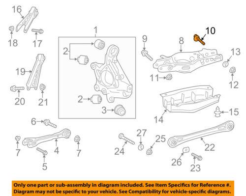 GM OEM Rear Suspension-Lower Control Arm Bolt 11547215