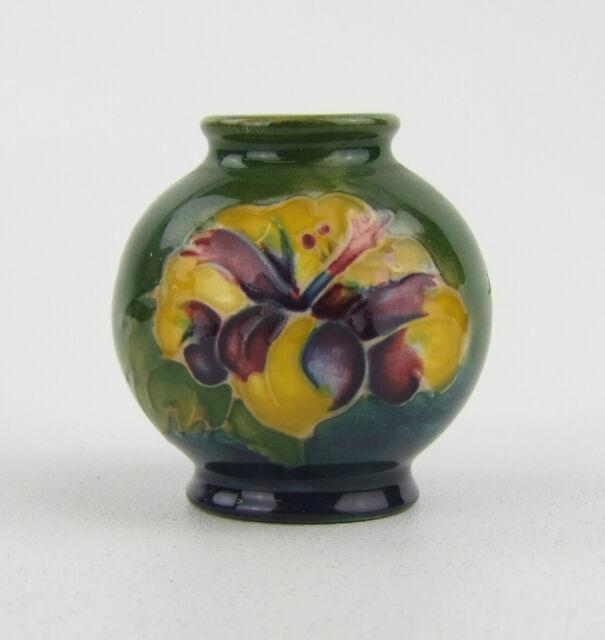Moorcroft Hibiscus Pattern Vase - Made in England