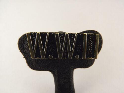US Military World War II Script Gold//Black Tone Metal LAPEL HAT PIN BRAND NEW