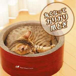 NEW! Cat toy ? (mju :) skinny Circle scratcher garigari bed Fairy claw Japan F/S