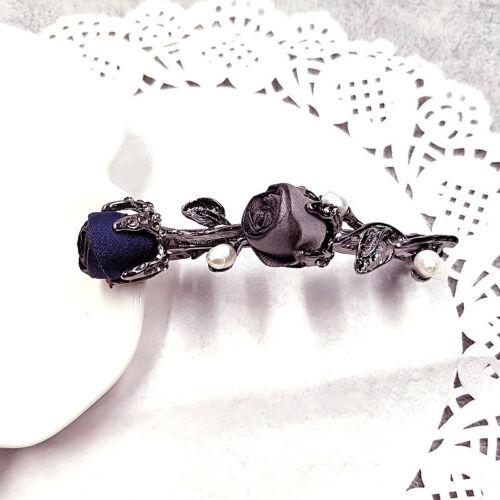 Women Hair Accessories Rose Flower Crystal Pearl Barrette Hairpin Hair Clip Gift