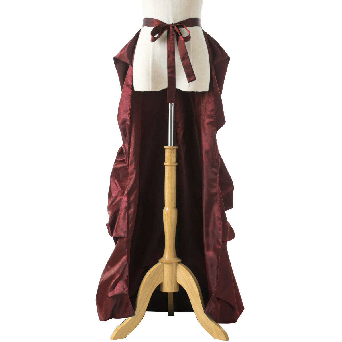 Vintage Victorian Edwardian Bustle Skirt Fancy Dr… - image 5