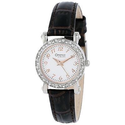 """Caravelle by Bulova Women's 43L126 Full 44 Crystal Bezel Watch """"LIST $130"""""""