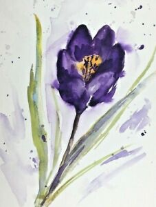 TULIP PAINTING -Original painting By Diane Antone A4 8x11ins