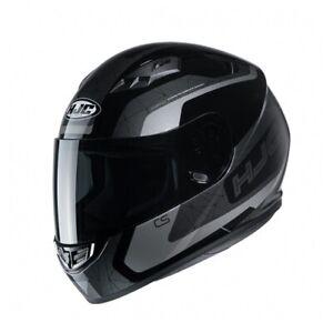 NEW-HJC-Helm-CS-15-Dosta-schwarz-grau-Gr-M-57-58-Motorradhelm-MC5-NEU