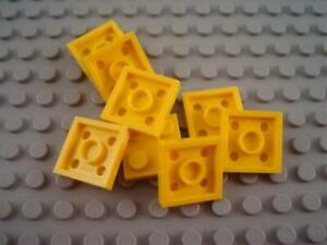 New LEGO Lot of 8 Yellow 2x2 Plate Building Parts and Pieces