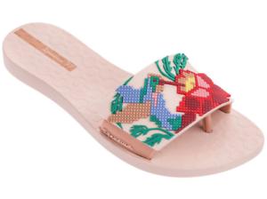 Ipanema Women`s Flip Flops Nectar Sandal Pink Beige Slide Thong Sandals NWT