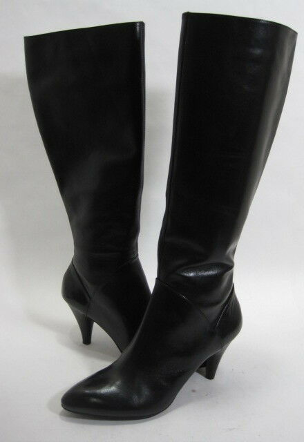 FRANCO SARTO WOMEN'S ADVENT KNEE-HIGH BOOT BLACK CALF LEATHER SIZE 8 Pre-owned