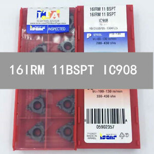 ISCAR-16IRM-11BSPT-IC908-Threaded-blade-Carbide-Inserts-10Pcs