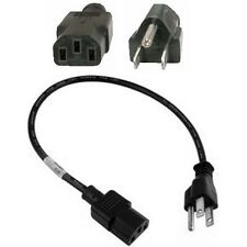 """2pack 12/""""inch//1ft 18awg Short Standard Power Cord//Cable//Wire  IEC320 C13 Lot2"""