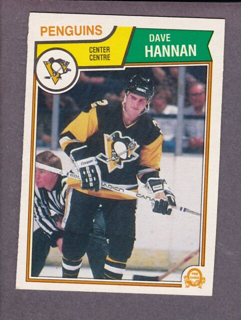 1983-84 O-Pee-Chee OPC Hockey Dave Hannan #281 Pittsburgh Penguins NM/MT