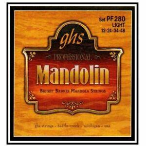 GHS Tenor Mandolin / Mandola Strings-GHS PF280 light gauge, bright bronze wound
