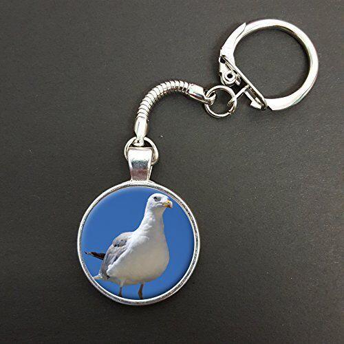 Seagull Bird Pendant On A Snake Keyring Ideal Birthday Gift N507
