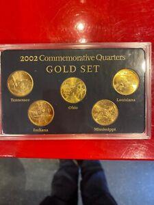 2002-Commemorative-Quarters-Gold-Set