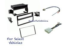 Car Stereo Radio Dash Install Mount Kit Combo for select 2007-2011 Nissan Versa