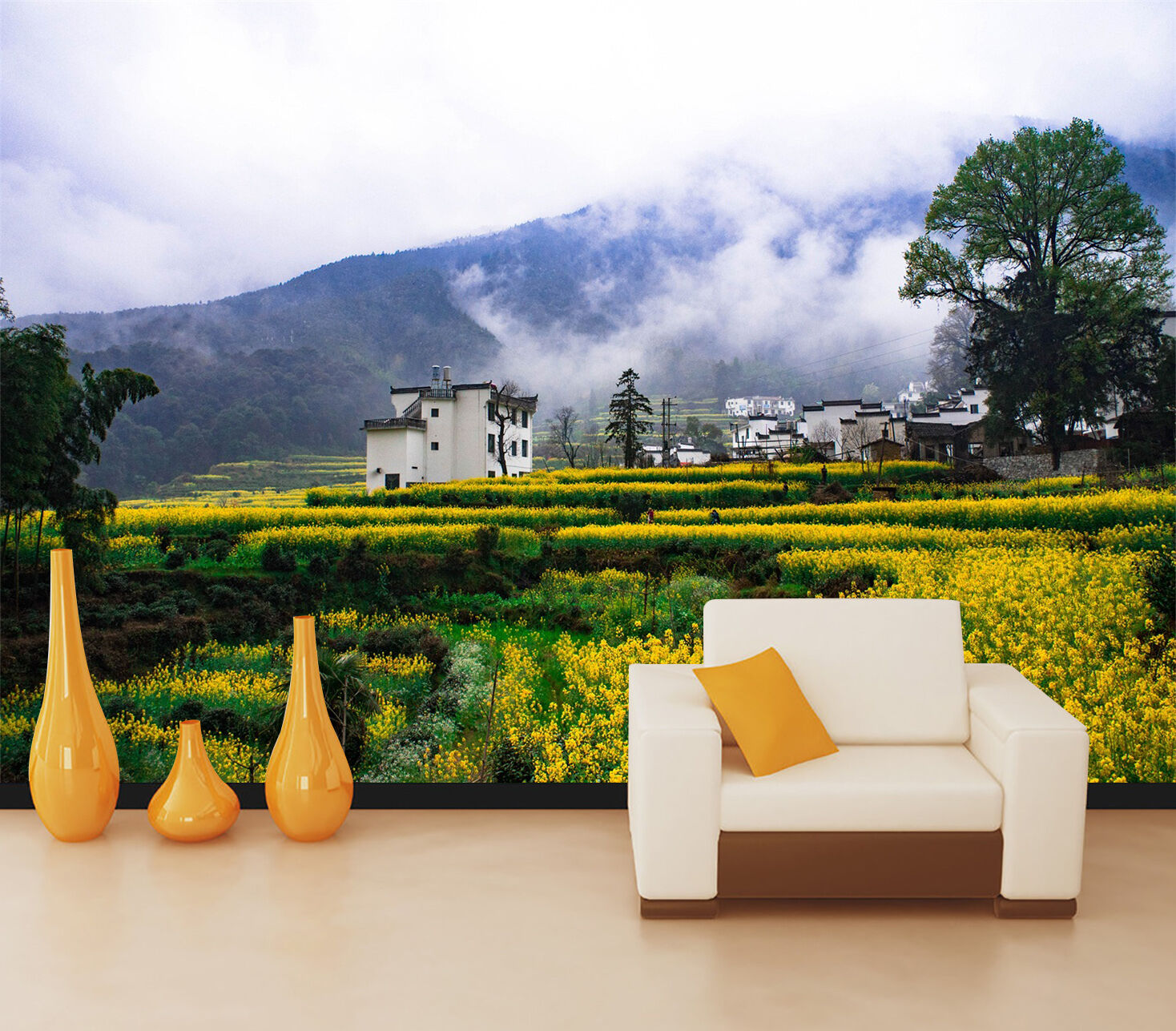 3D Pastoral scenery 47 Wall Paper Wall Print Decal Wall Deco Indoor wall Murals