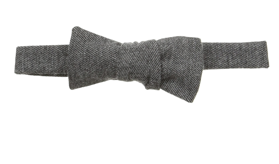 Hackett London Wool/Silk Bow Tie, Grey Heather, One Size