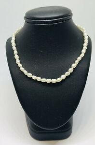 Girocollo collana con perle di fiume e chiusura Argento 925