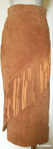 Laurice Vintage Brown Suede Fringed Cowgirl/Indian